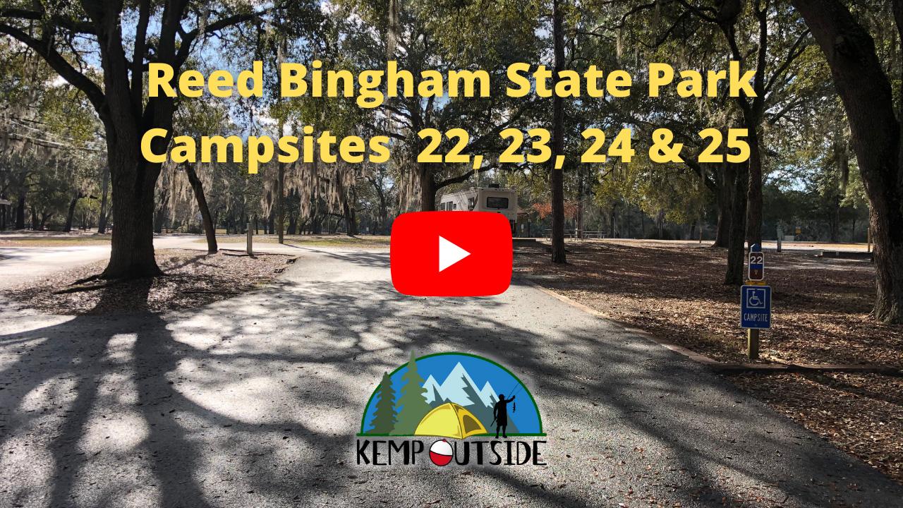 Reed Bingham State Park Campsites 22, 23, 24 & 25