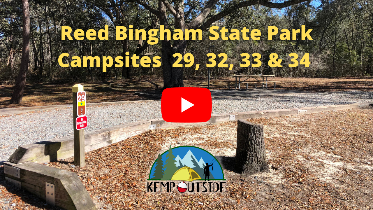 Reed Bingham State Park Campsites 29, 32, 33 & 34