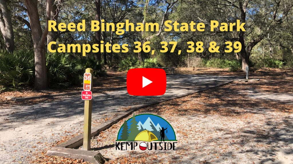 Reed Bingham State Park Campsites 36, 37, 38 & 39