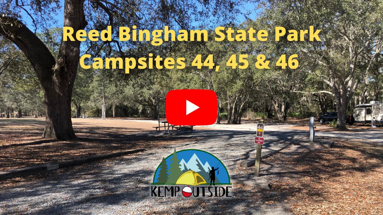 Reed Bingham State Park Campsites 44, 45 & 46